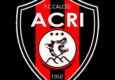 CALCIO: Giorni decisivi per il calciomercato dell'Acri. A centrocampo sfuma Bilello
