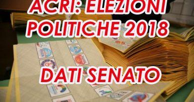 ACRI: ELEZIONI POLITICHE 2018 – DATI SENATO