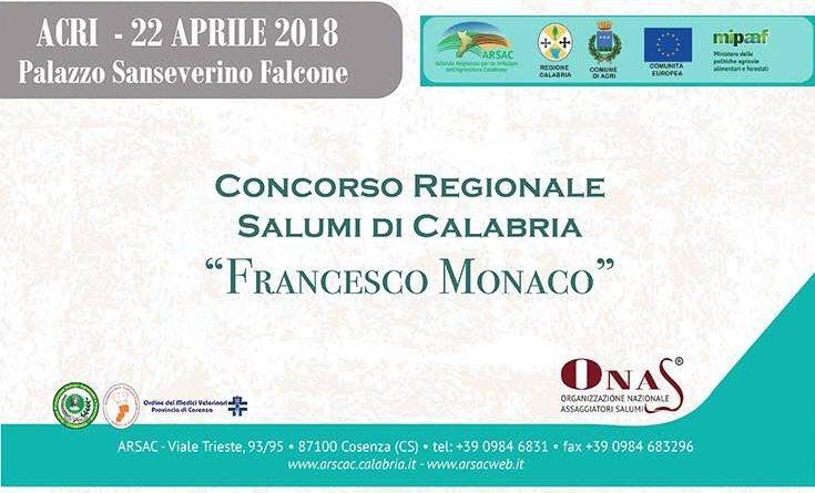 Acri: Salumi di Calabria, un concorso dedicato a Franco Monaco