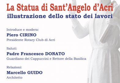 Acri: Sabato la presentazione dei lavori della statua di Sant'Angelo