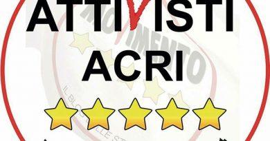 Attivisti Acri Cinque Stelle, proposta regolamento per l'acquisizione di immobili fatiscenti